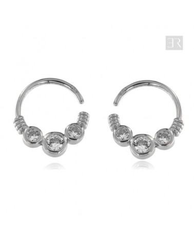 "Ear Cuff Plata ""Circonita"""