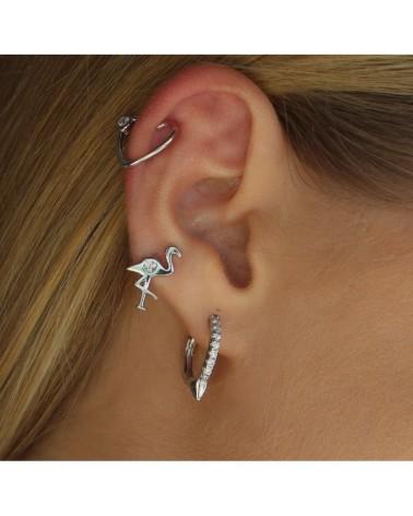 """Ear Cuff Plata """"Circonita con Corazon"""""""